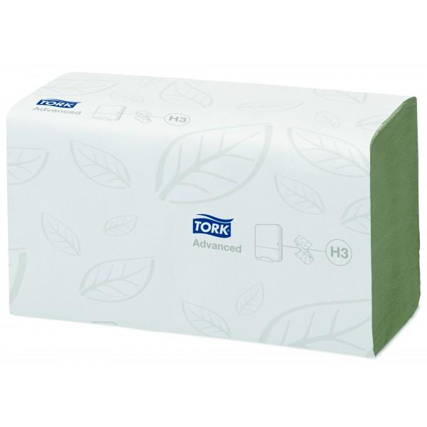 Tork салатовые листовые полотенца, 250 шт., 2 слоя, Singlefold. Advanced