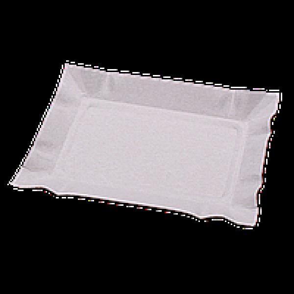 Бумажная тарелка 13х19 см белая (100 шт/уп)