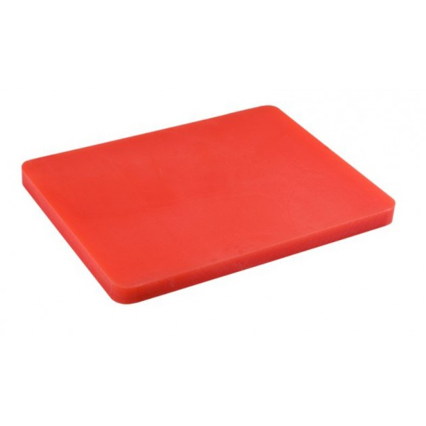 Доска разделочная пластиковая красного цвета 440*300*50 мм