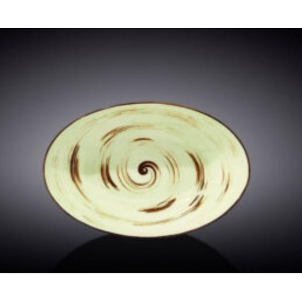 Блюдо овальное глубокое Wilmax SPIRAL PISTACHIO 25х16,5х6см