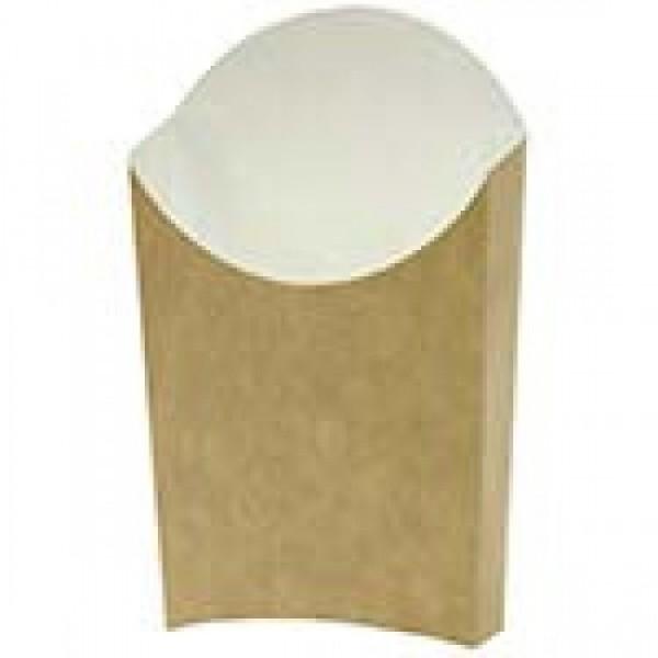 Крафтовая коробка для картофеля-фри, маленькая, 65*115 мм (60 шт/уп)