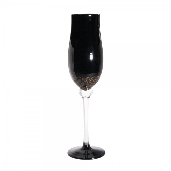 Черный бокал для шампанского 200 мл