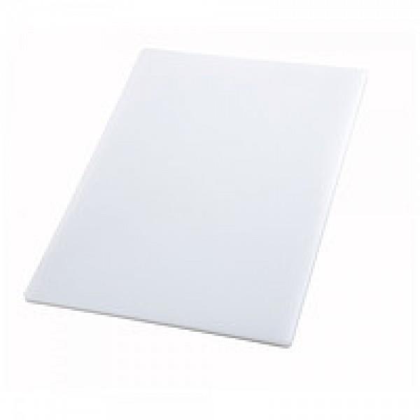 Профессиональная разделочная доска белая 60х40х2 см