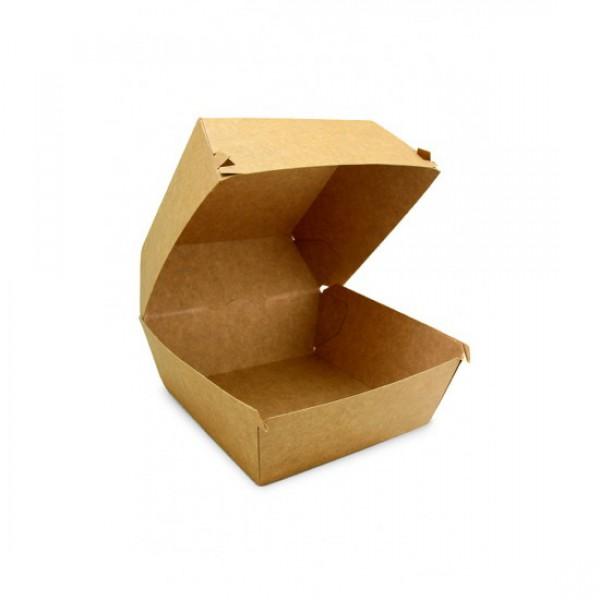 Крафтовая коробка для бургера, 118*118*86 мм (80 шт/уп)