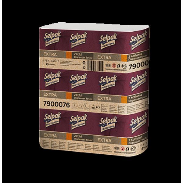 Selpak Pro. Premium Бумажное полотенце Z-скл. Двухслойное 200 шт. Белые.
