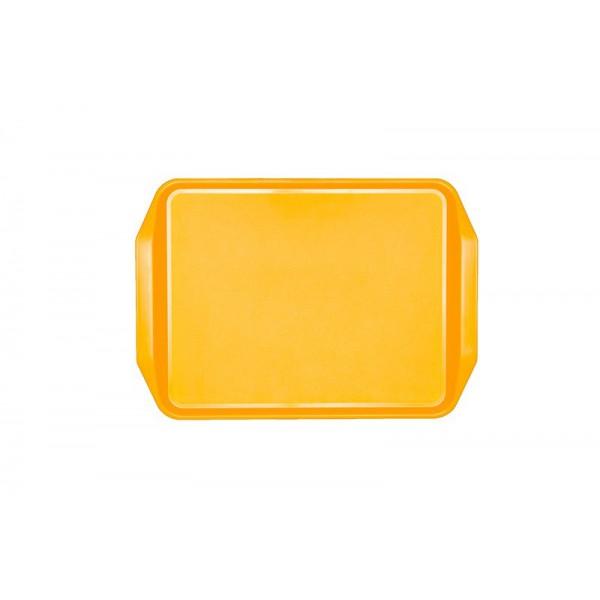 Поднос пластиковый 43х31 см желтый