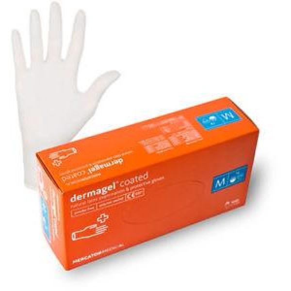 Перчатки латексные Dermagel 100 шт, размер M