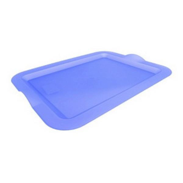 Поднос пластиковый, голубой, 46х36х4 см