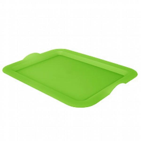 Поднос пластиковый, салатовый, 46х36х4 см