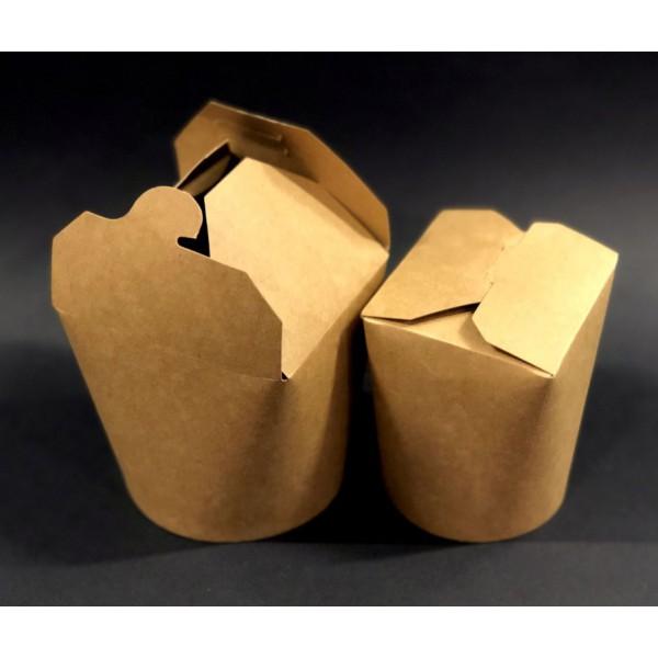 Крафтовая коробка для лапши 750 мл (50 шт/уп)