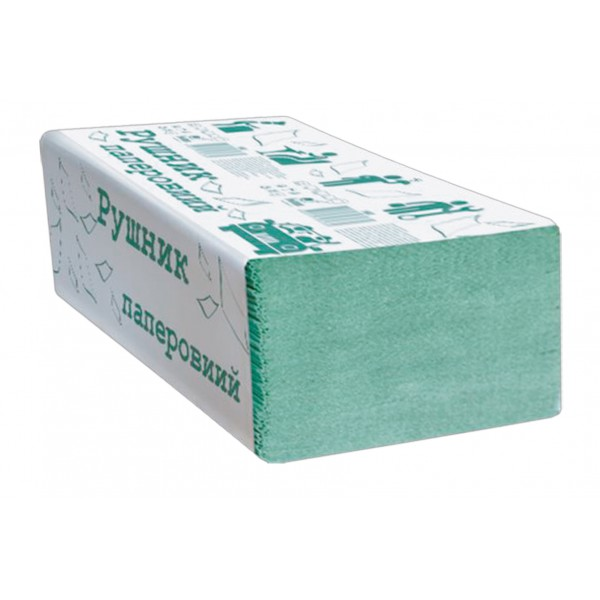 Полотенце Альбатрос V-сложения 1 сл., 200 листов, зеленое