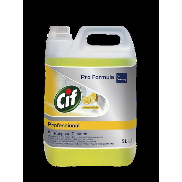 Cif Prof Универсальное средство для водостойких поверхностей (концентрат) Лимон 5л (2 шт/уп)