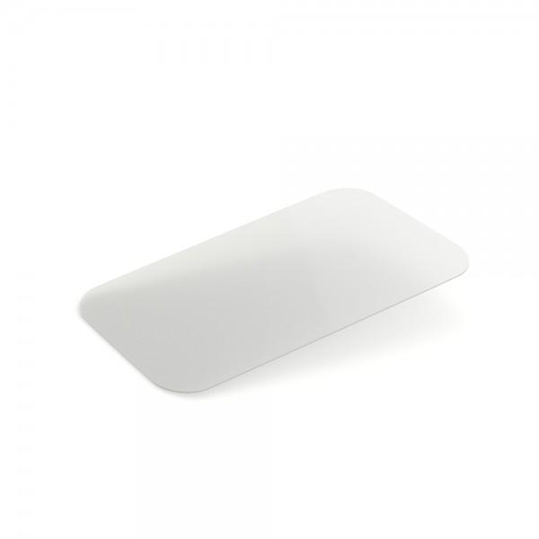 Крышка пластик плоская к алюм. контейнеру SP64L, -||- black, SP74L (100 шт/уп)