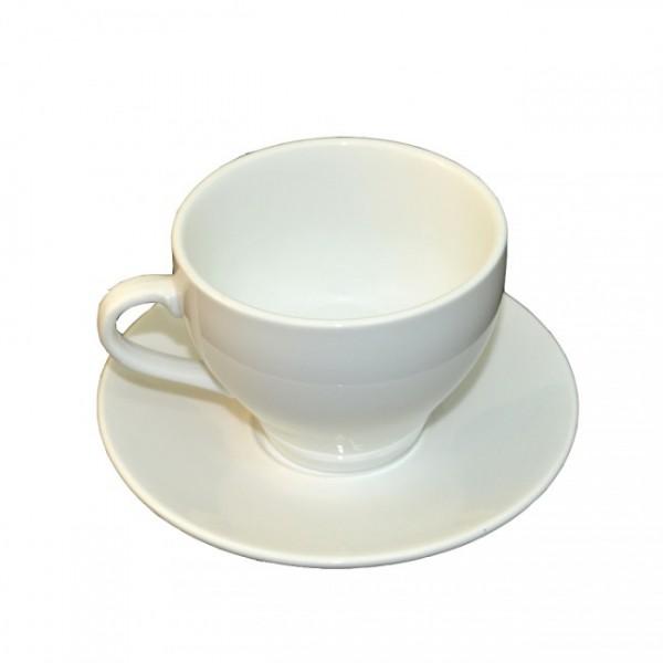 Набор чайный белый - блюдце и чашка 350 мл
