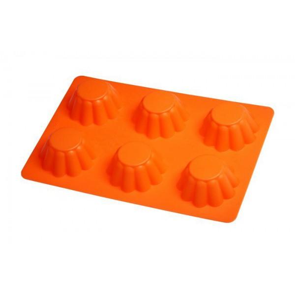 Силиконовая форма для кексов на 6 шт 25,5х18х3 см