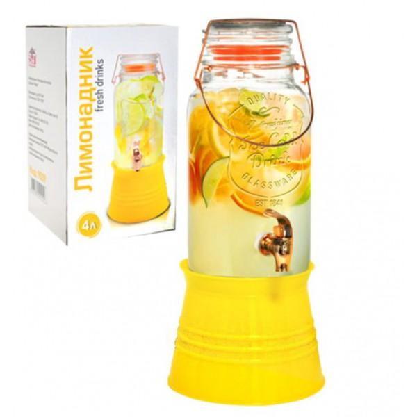 Лимонадник на металлической подставке, 4л