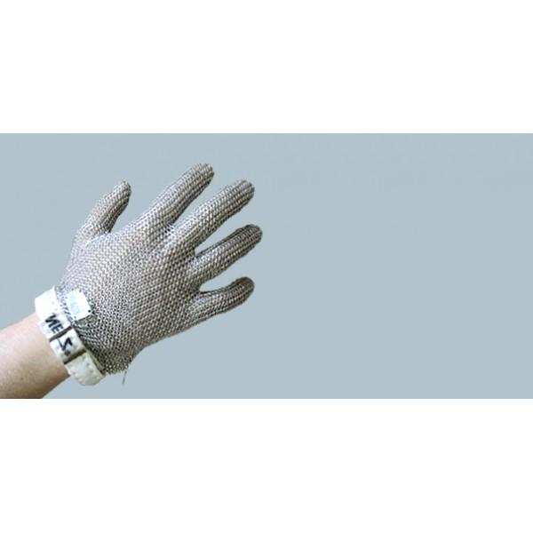 Кольчужная перчатка с тканевой застежкой, размер М