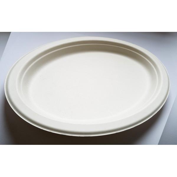 Биоразлагаемая тарелка Ekola 19х26 см (125 шт/уп)
