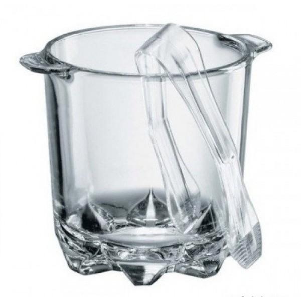 Стеклянное ведерко для льда со щипцами Polka, 0.7 л