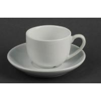 Кофейный набор чашка 90 мл с блюдцем, фарфор