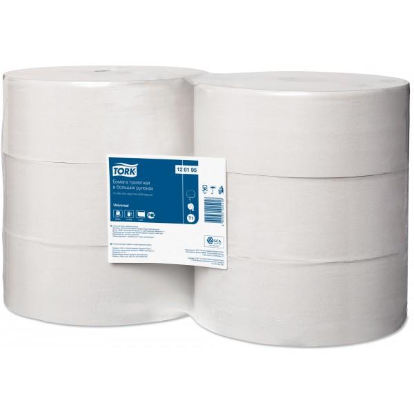 Tork т/бумага в больших рулонах 525 м.1 сл., 120195