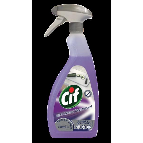 Cif Prof 2in1. Средство для мытья и дезинфекции любых поверхностей, 0,75 (6шт/ящ)