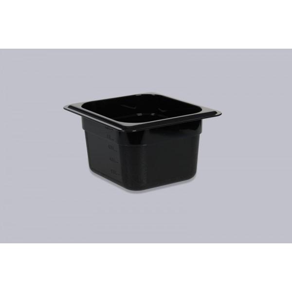Гастроемкость поликарбонат черная GN 1/6-150