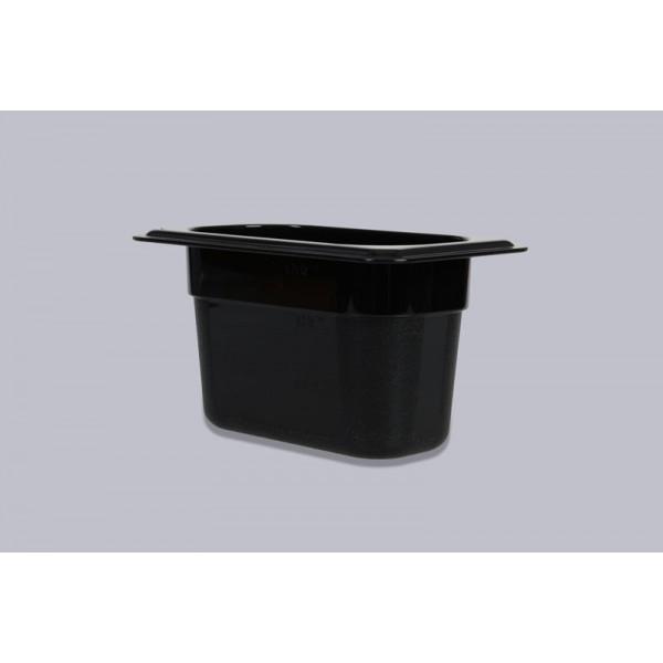 Гастроемкость поликарбонат черная GN 1/9-100