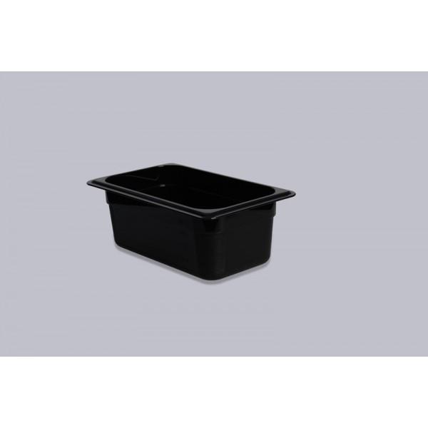 Гастроемкость поликарбонат черная GN 1/4-100