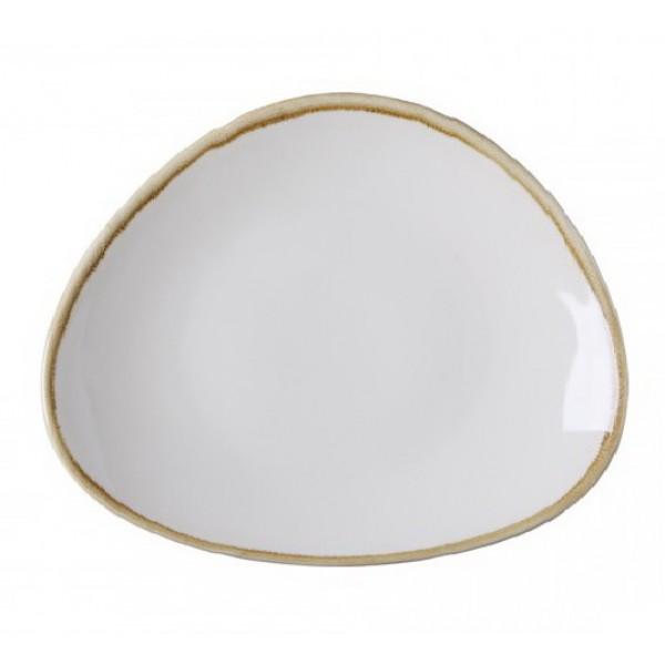 Блюдо белое овальное Terrastone, 28 см