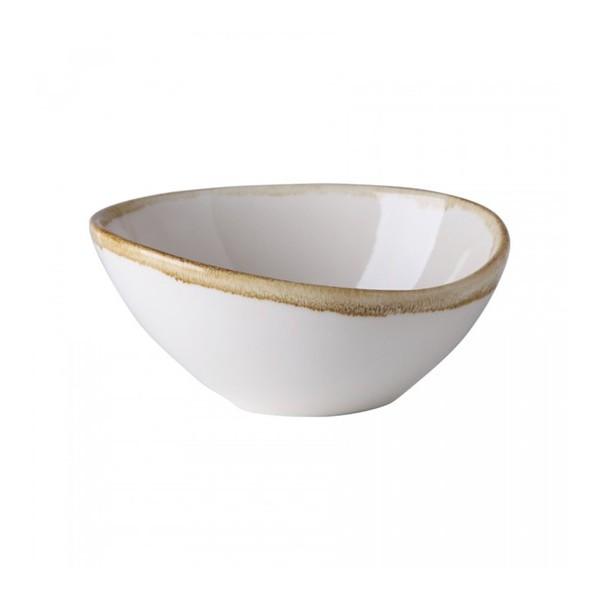Салатник белый с декором, 14,5 см