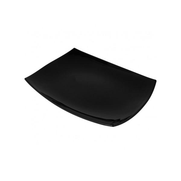 Блюдо прямоугольное черное Quadrato 35х26 см