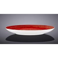Тарелка обеденная Wilmax SPIRAL RED 23 см
