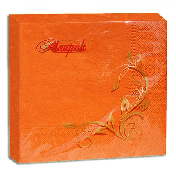 Салфетка 2-х слойная 33х33 см оранжевая (20шт/уп)