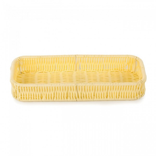 Корзинка плетенная для столовых приборов 27х10 см, бежевая