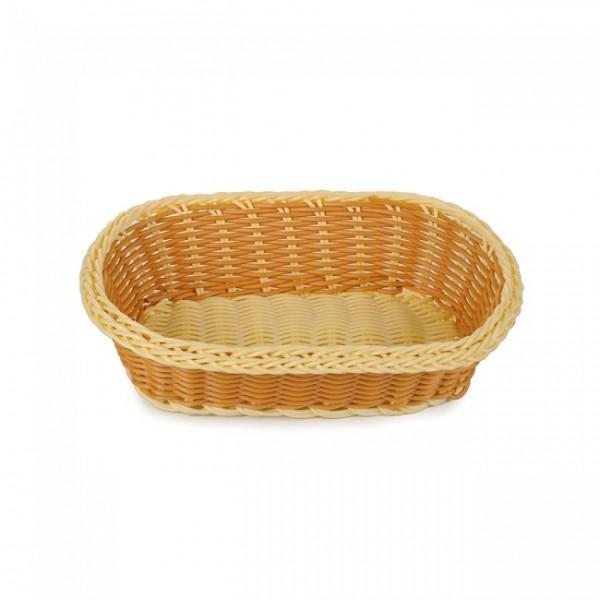 Корзина для хлеба двухцветная, овальная, 24х17х7 см