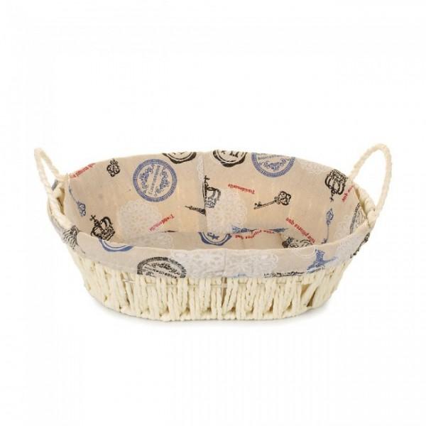 Корзина для хлеба плетеная со съемной тканью