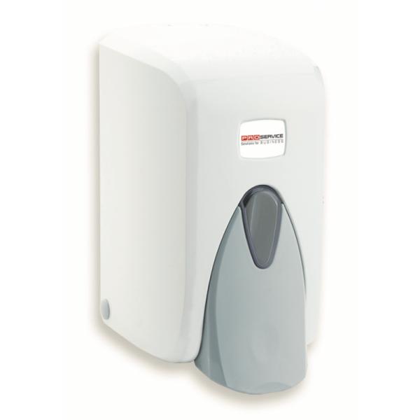 Дозатор для жидкого мыла белый-серый 0,5 л
