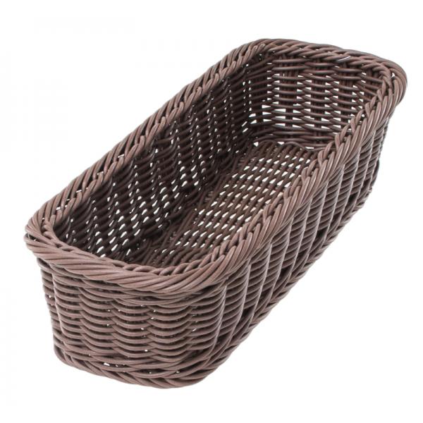 Корзинка плетенная для столовых приборов 280Х110Х70 черная