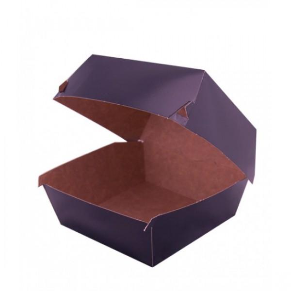 Крафтовая черная коробка для бургера, 118*118*86 мм (100 шт/уп)
