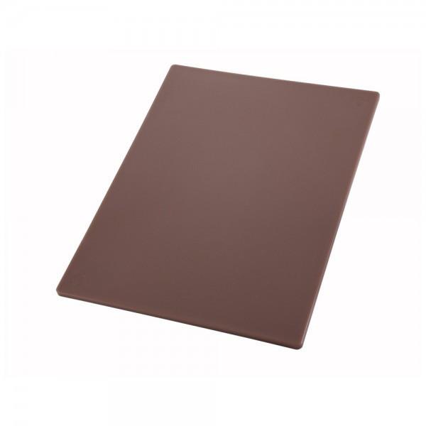 Профессиональная разделочная доска коричневая 60х40х2 см