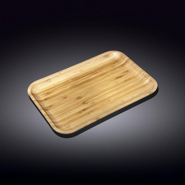 Блюдо прямоугольное бамбук Wilmax 20,5х10 см