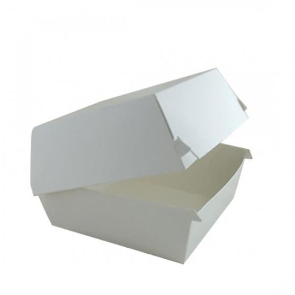 Крафтовая белая коробка для бургера, 118*118*86 мм (80 шт/уп)