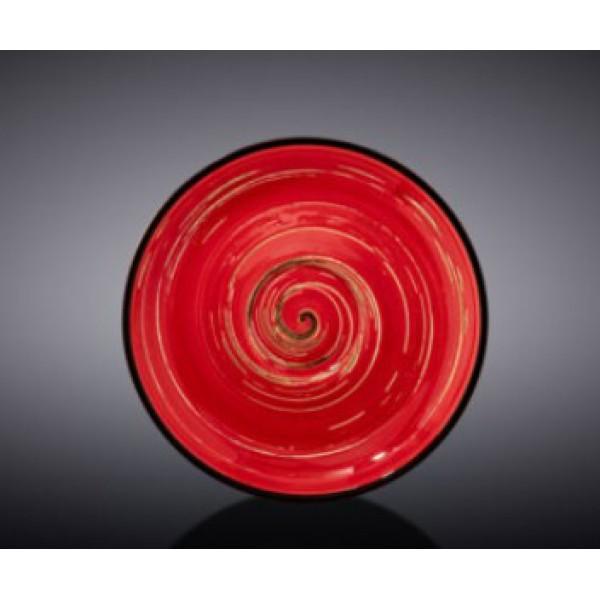 Блюдце Wilmax SPIRAL RED 15см