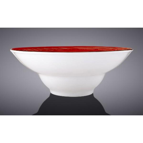 Тарелка глубокая Wilmax SPIRAL RED d20см/V800мл