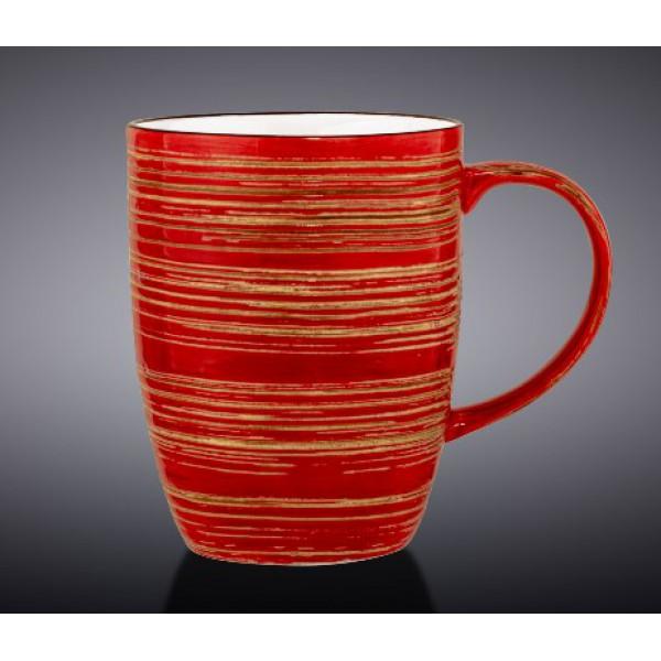 Кружка Wilmax SPIRAL RED 460мл