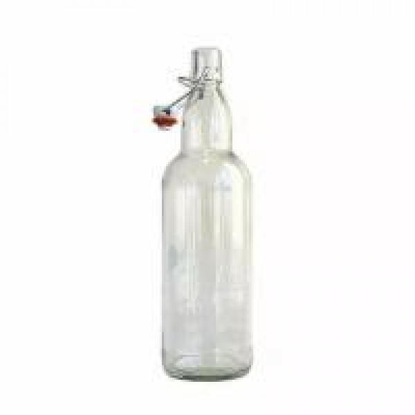Бутылка прозрачная с бугельной крышкой 500 мл
