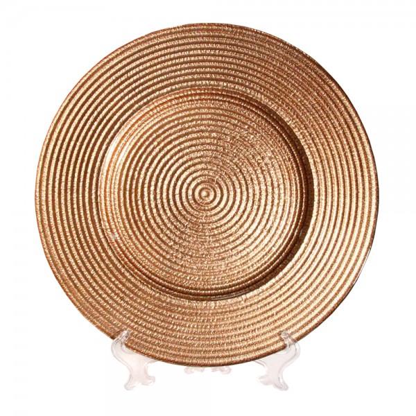 Тарелка Брауни золотая 33 см золото