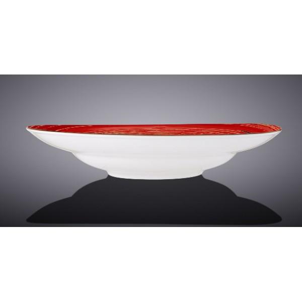 Тарелка глубокая Wilmax SPIRAL RED d25,5см/V350мл