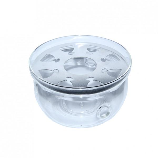 Стеклянная колба для подогрева чайника под свечку, 12 см